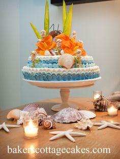 Beachy Sweet 16 Bakerscottagecakes.com