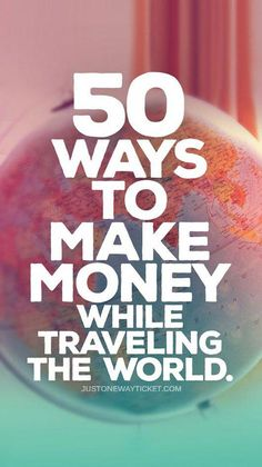 Best Travel Jobs – 50 Ways To Make Money While Traveling You want to work and travel? Pack your bags! Today I'll tell you how to make money while traveling! Here is the most extensive list of the best traveling jobs in the world! Travel Jobs, Travel Blog, Travel Money, Work Travel, Travel Packing, Travel Advice, Travel Guides, Travel Hacks, Packing Tips