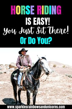 So many people seem to think that horse riding looks easy. The rider just sits there and the horse does all the work. Sound familiar? If the rider looks like they are not doing a lot then often times it's because they are a decent rider. Learn what is involved in riding that makes it harder than you think.