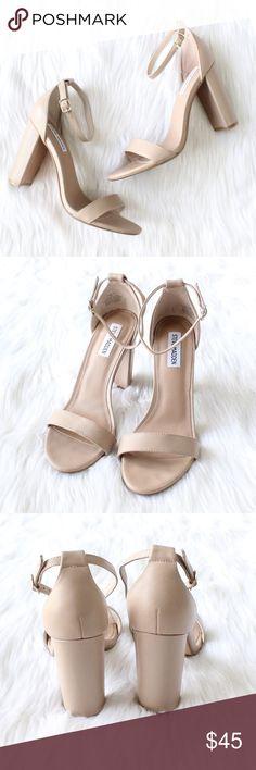 d6fb3d43b37 STEVE MADDEN Carrson Sandal in Blush Leather. Ankle strap ...