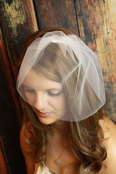 Simple Illusion Tulle Birdcage veil