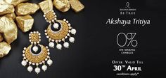 Celebrate this glorious ‪#‎OccasionToBeTrue‬ with 0%* making charges on Ghanasingh Be True's resplendent ‪#‎jewellery‬. ‪#‎AkshayaTritaya‬ ‪#‎Joy‬ ‪#‎Prosperity‬ ‪#‎Discount‬