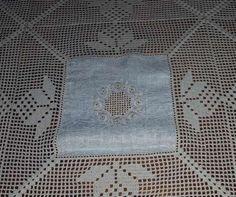 Toalha de mesa feita à mão - Crochê e Linho - Nova! Matosinhos E Leça Da Palmeira - imagem 3