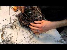 frühlingshaftes Osternest aus Zweigen - YouTube