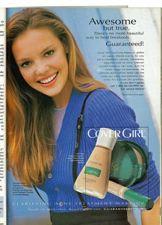 Early 2000s Fashion, 80s And 90s Fashion, Vintage Makeup, Vintage Beauty, Vintage Magazines, Teen Magazines, New Advertisement, Makeup Ads, Old And Teen