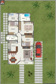 Casa 3 Quartos - 80.33m²