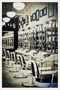 barber shop, New York