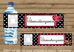 I Love Lucy INSPIRED Water Bottle labels with FREE thank you - My Site
