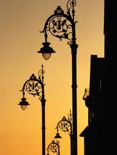 GEORGIAN LANTERNS AT SUNSET, DUBLIN, IRELAND Photographic Print By Martin Moos Item #: 12895551A