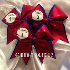 Thing 1 Thing 2 Cheer Bow  Price Per Bow by BlingNBoutique on Etsy