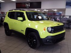 My future ride! 2017 Jeep Renegade in Hyper Green.