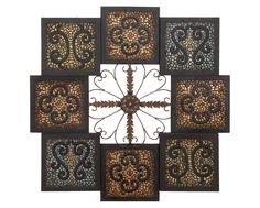 Mosaic Adoration Metal Wall Art Hanging