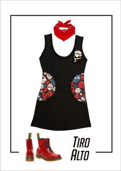Art. V-145 vestido CiC Lycra color: Calavera Sailor talle: 1-2-3