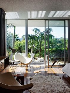 "urbnite: ""Home designed by Oscar Niemeyer. Coconut Chair by George Nelson Cyclone Tables by Isamu Noguchi """