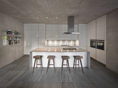 Kitchen in matt white