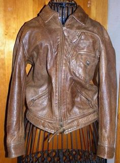 767908ff8000 Ralph Lauren Polo Blue Label Brown Distressed Leather Biker Jacket Small   RalphLauren  Motorcycle Polo