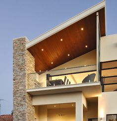 Floating Balcony The cantilever of a balcony can give the appearance of a floating platform, creating articulation to the front or rear facades and a dramatic shadow effect that is forever changing.
