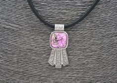 Pink Dicro Necklace