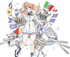 Littorio, an Italian battleship. I guess Hima is doing personified battleships now!