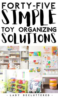 Between Legos and Barbies, finding organizing solutions that work for your kids' toys is now more than possible. There are dozens of fantastic ways to organize every type of toy in your home. Take a look at these 45 DIY toy organization ideas that are sure to get you and your kid completely organized. #ladydecluttered #toyorganization #howtodecluttertoys #howtoorganizetoys #howtoorganizelegos #howtoorganizebarbies #howtorganizebooks #howtoorganizeartsupplies Barbie Organization, Playroom Organization, Organization Hacks, Organizing Solutions, Organizing Your Home, Organizing Tips, Ikea Kids Playroom, Playroom Printables, Declutter Your Mind