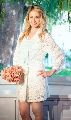 lace bride robes. #BridalGifts