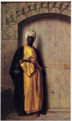 """The Guard of the Harem""   -   Jean-Leon Gerome (1859)"