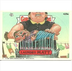 Garbage Pail Kids #429a Laundry Matt Trading Card 1987 Topps Chewing Gum on eBid Canada $3.00