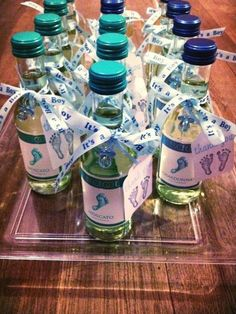 Diy Baby Gifts, Baby Shower Gifts For Boys, Boy Baby Shower Themes, Boy Shower, Boy Gifts, Baby Shower Drinks, Baby Shower Party Favors, Baby Shower Parties, Diaper Parties
