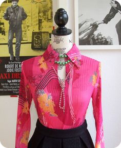 MEXX Romantische Damen Bluse 36 Blouse Boho Blumen Oberteil Pink Plissee Hippie in Kleidung & Accessoires, Damenmode, Blusen, Tops & Shirts | eBay