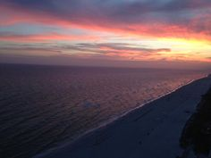 Panama City Beach sunset... photo from Shay Brannon