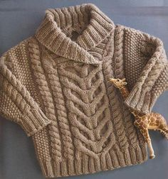 Baby Knitting Patterns, Baby Sweater Patterns, Baby Boy Knitting, Knit Baby Sweaters, Toddler Sweater, Cable Sweater, Boys Sweaters, Knitting For Kids, Baby Patterns