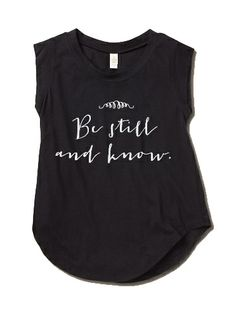 "Image of Women's ""Be Still and Know"" Cap-Sleeve Crew"
