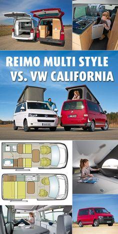 Der neue Reimo Multi Style zeigt, dass man in einem #VW-Bus Einzelbetten und ein Toilettenabteil unterbringen kann. Ist er deshalb die bessere Alternative zum beliebten VW California? #Campingbusse