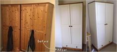 Upcycled Furniture, Painted Furniture, Bedroom Furniture, Diy Furniture, Pine Wardrobe, Spare Room, House Goals, Wardrobes, Furniture Makeover