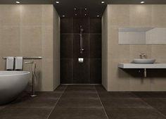 Bathroom And Design On Pinterest Innen Badezimmer Braune Fliesen ...