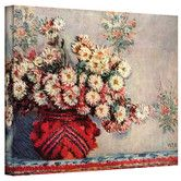 Found it at Wayfair - ''Red Vase'' by Claude Monet Painting Print on Canvas