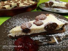 pöttyös, túrós pite Pancakes, French Toast, Pudding, Cookies, Breakfast, Desserts, Food, Crack Crackers, Morning Coffee