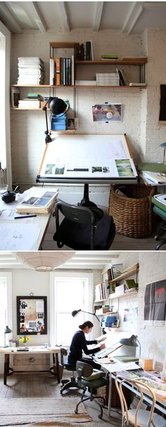 Creative space ::  Miranda Brooks      http://alovelybeing.com/journal/creativity-at-work-miranda-brooks.html