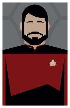 Star Trek: The Next Generation - Commander William Riker - Poster or 11 x Star Trek Wallpaper, My Son Birthday, Uss Enterprise, Pony Beads, Chalk Art, Classic Books, Minimalist Art, The Next, The Journey