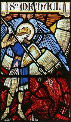 St Michael (detail), Great St. Mary's.
