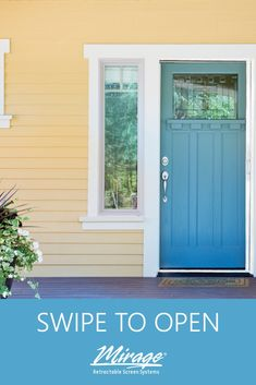 Breath a little better, feel a little fresher with Mirage Retractable Screen Doors. Retractable Screen Door, Screen Doors, The Fresh, Garage Doors, Windows, World, Outdoor Decor, Home, Ad Home
