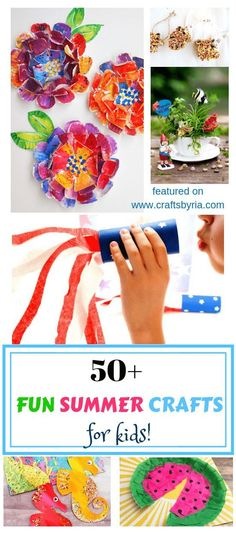 Here are more than 50 summer crafts to add to your summer bucket list! Ultimate list of fun crafts and activities. You will be amazed by the collection of beautiful ocean crafts, sun crafts, butterfly crafts, bug crafts, rock crafts, DIY toys, patriotic c