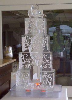 Wedding themed ice luge