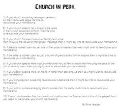 ~Church In Peril~ By Ernie Kasper #thoughts   #church   #gospel
