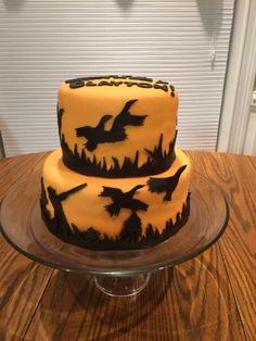- Birthday cake for a duck hunter