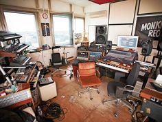 Gernot Bronsert and Sebastian Szary (aka Modeselektor) Music Recording Studio, Audio Studio, Music Studio Room, Recording Studio Design, Sound Studio, Home Studio Setup, Studio Desk, Dream Studio, Studio Spaces