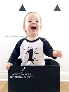 How to make a very easy DIY Birthday T-shirt for anyone!