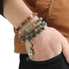 Tibetan Buddhist Agate Beads Bracelet