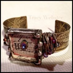 The Poet  Etched & Soldered Cuff Bracelet by artwerx on Etsy, $60.00