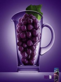 "Santal Grape Juice: ""GRAPE"" Print Ad  by Dpz"